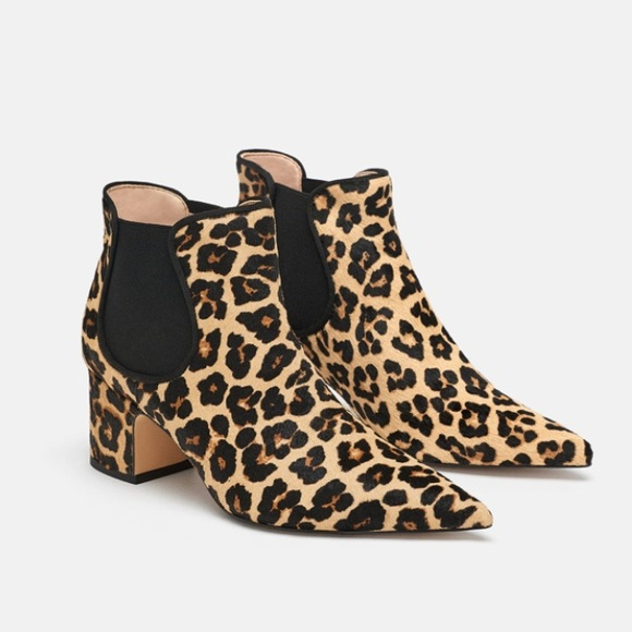 747a04e1a089 Zara Shoes | Leopard Print Leather Ankle Boots | Poshmark